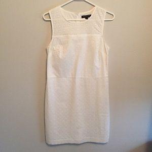 Banana Republic White Eyelet Tank Dress Size 6